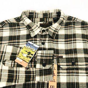 NWT Orvis Big Bear Flannel Green Plaid Shirt XXL